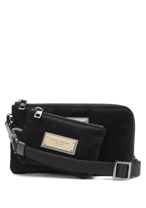 Dolce & Gabbana - Logo Plaque Mini Pouch - Mens - Black