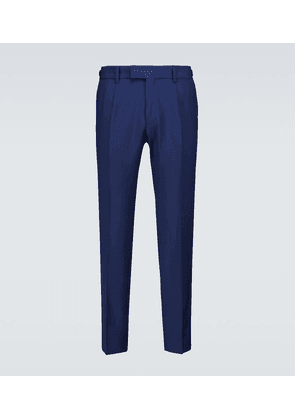 Wool and mohair suit pants
