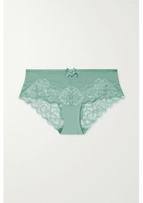 Chantelle - Orangerie Stretch-lace And Tulle Briefs - Sage green