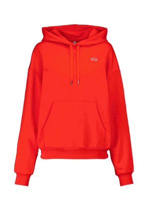 Accolade cotton-blend hoodie