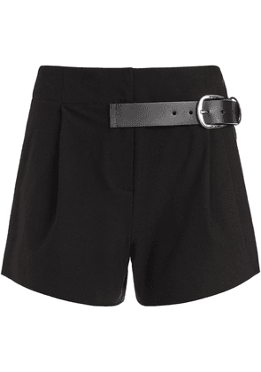 Alice+Olivia Adelina belted shorts - Black