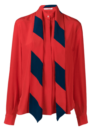 Givenchy detachable scarf shirt - Red