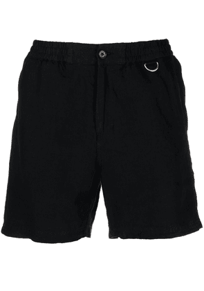 Low Brand elasticated waist linen shorts - Black