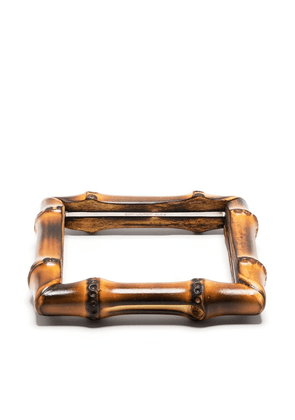 Saint Laurent bamboo square bangle - Brown