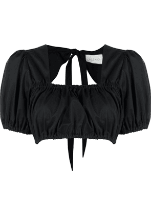 Alexis Tilly cropped blouse - Black