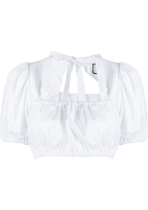 Alexis Tilly cropped blouse - White