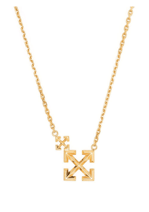 Off-White Double Arrows logo necklace - Gold