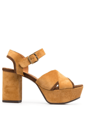 Chie Mihara chunky suede sandals - Yellow