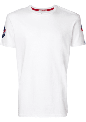Alpha Industries flag patch T-shirt - White