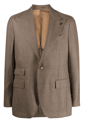 Gabriele Pasini single-breasted peak-lapel blazer - Brown