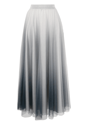 D.Exterior tulle layer midi dress - Grey