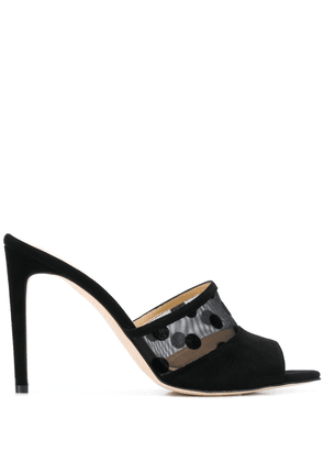 Chloe Gosselin Liz flocked mules - Black