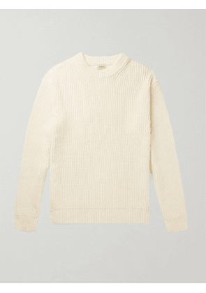 BELLEROSE - Racel Ribbed Cotton-Blend Sweater - Men - Neutrals - S