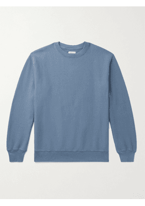BELLEROSE - Flake Mélange Fleece-Back Cotton-Jersey Sweatshirt - Men - Blue - S