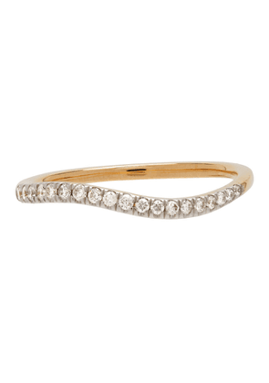 Adina Reyter Gold Pave Peak Wave Ring