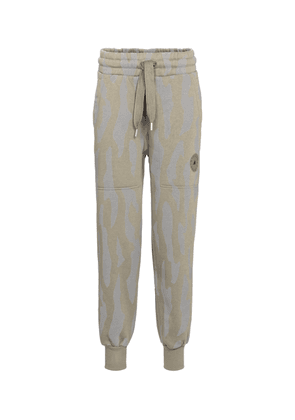 Printed cotton-blend sweatpants