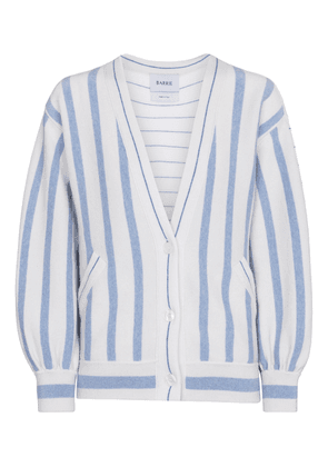 Striped cashmere and cotton cardigan