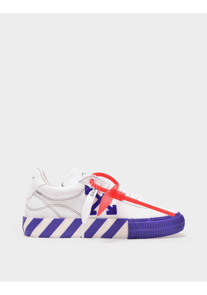 Off-White Low Vulcanized Sneakers in White and Violet