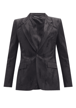 Givenchy - Beaded Abstract-jacquard Single-breasted Blazer - Mens - Black