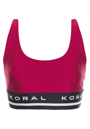 Koral Fame Limitless Jacquard-trimmed Stretch Sports Bra Woman Magenta Size M