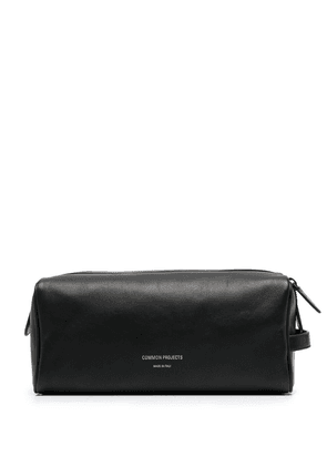 Common Projects engraved-logo wash bag - Black