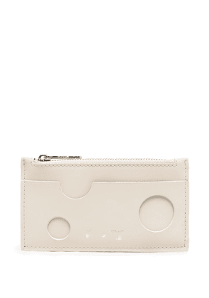 Off-White cut-out logo cardholder - Neutrals