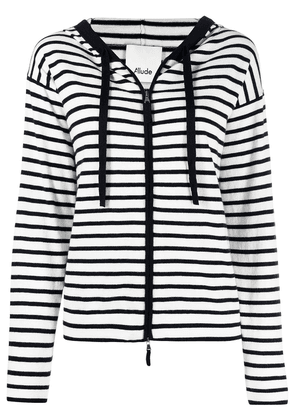 Allude striped hoodie - White