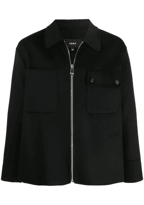Arma knitted zip-up jacket - Black