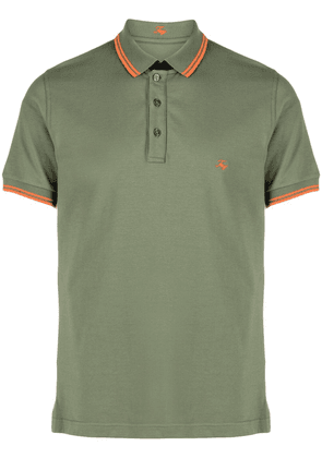 Fay embroidered-logo short-sleeved polo shirt - Green
