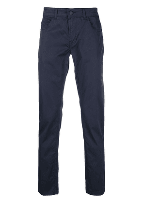 Fay cropped slim-cut trousers - Blue