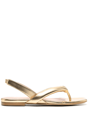 Gia Couture thong strap slingback sandals - Gold
