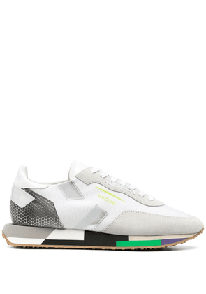 Ghoud panelled-mesh trainers - White