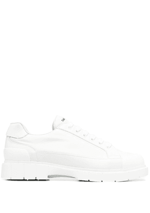 Car Shoe Kue leather low-top sneakers - White