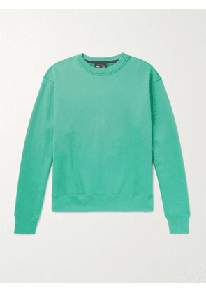 ADIDAS CONSORTIUM - Pharrell Williams Basics Logo-Embroidered Loopback Cotton-Jersey Sweatshirt - Men - Green - S