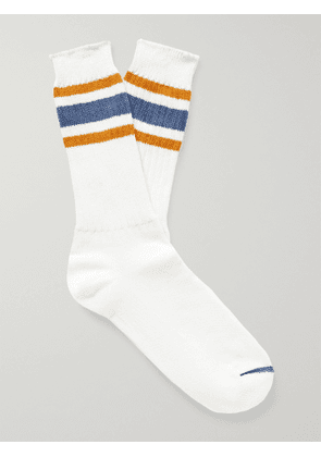 ANONYMOUS ISM - Striped Recover Socks - Men - White