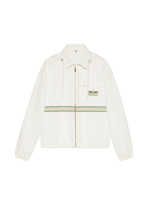 Eco cotton jacket with vintage label