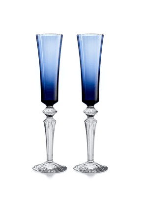 Baccarat - Set-Of-Two Flutissimo Flutes - Color: Blue - Material: crystal - Moda Operandi
