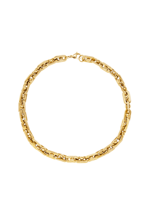 FALLON - Women's Bolt Gold-Plated Brass Necklace - Gold - Moda Operandi
