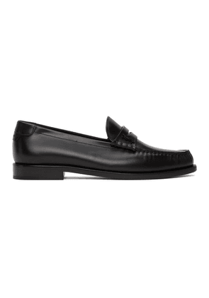 Saint Laurent Black Monogram Penny Slippers