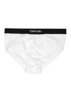 TOM FORD Two-Pack White Cotton Briefs
