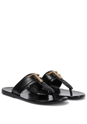 Brighton leather thong sandals