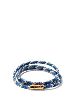 Dolce & Gabbana - Braided Leather Wrap Bracelet - Mens - Multi