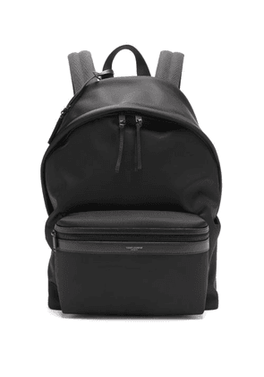 Saint Laurent - City Technical-canvas Backpack - Mens - Black