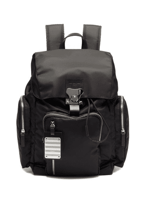 Fpm Milano - Butterfly Medium Leather-trim Backpack - Mens - Black