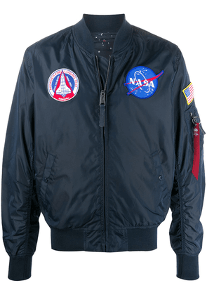Alpha Industries NASA embroidered bomber jacket - Blue