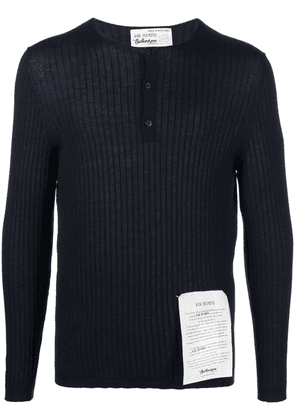 Ballantyne ribbed-knit cashmere top - Blue