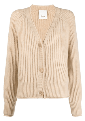 Allude button-up cashmere cardigan - Neutrals