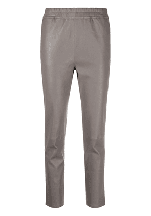 Arma cropped leather trousers - Grey