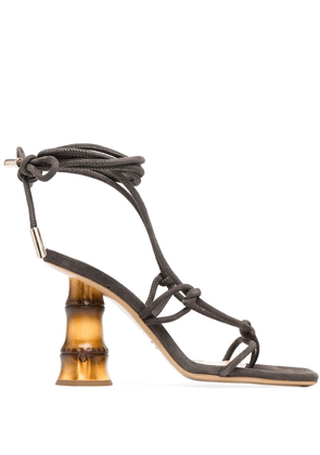 Gia Couture Eolo bamboo-heel sandals - Brown