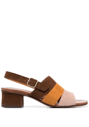 Chie Mihara colour-block leather sandals - Brown